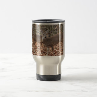Whitetail doe and fawn Travel Mug