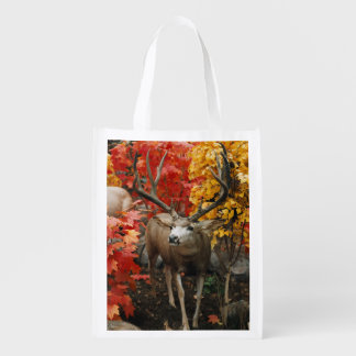 Whitetail In Autumn Reusable Grocery Bag