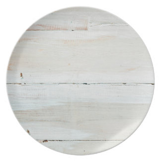 Whitewashed Barn Wood White Woodgrain Plate