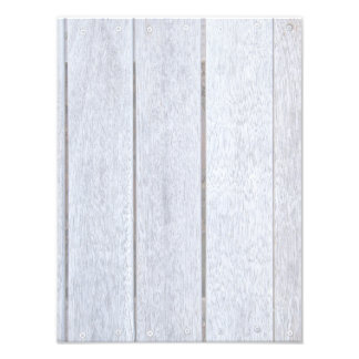 Whitewashed Old Weathered Wood Background Wooden Photo Print