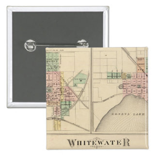 Whitewater, Elkhorn and Geneva 15 Cm Square Badge