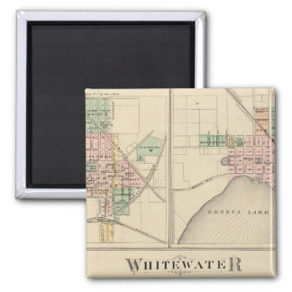 Whitewater, Elkhorn and Geneva Square Magnet