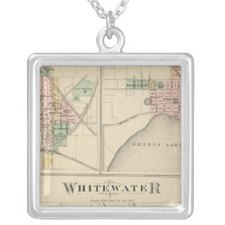 Whitewater, Elkhorn and Geneva Square Pendant Necklace