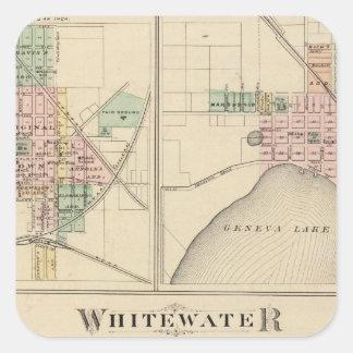 Whitewater, Elkhorn and Geneva Square Sticker