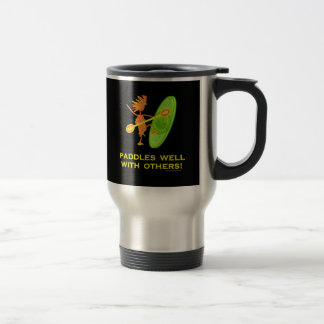 Whitewater Kayak - Paddles Well With Others 2 15 Oz Stainless Steel Travel Mug