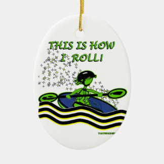 Whitewater Kayak Roll Christmas Ornament
