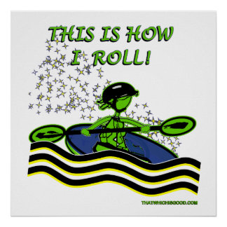 Whitewater Kayak Roll Posters