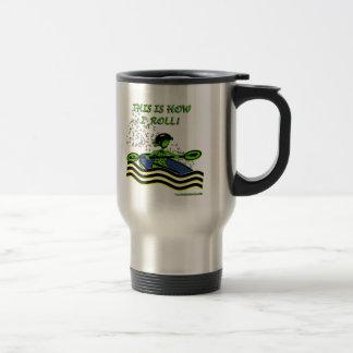Whitewater Kayak Roll Stainless Steel Travel Mug