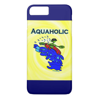 Whitewater Kayaker Aquaholic Blue Green iPhone 7 Plus Case