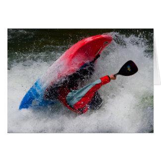 Whitewater Kayaking Greeting Card