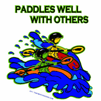 Whitewater Paddles Well With Others Photo Sculpture Decoration