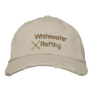 Whitewater Rafting Embroidered Hat
