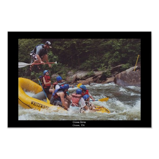 Whitewater Rafting Poster