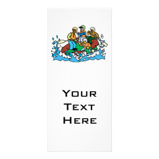 whitewater rafting trip graphic personalised rack card