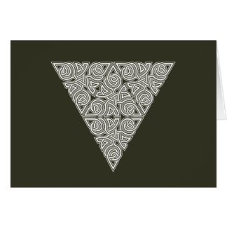 Whitework Triangle Knot Card