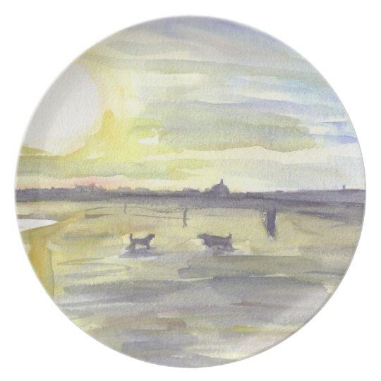 Whitley Bay Beach Melamine Plate