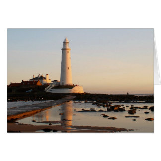 WHITLEY BAY LIGHTHOUSE CARD