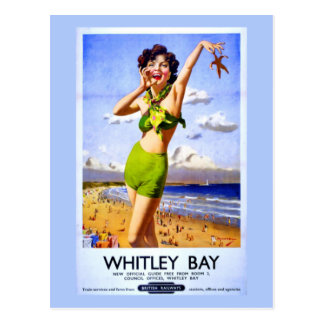 Whitley Bay Vintage Ad Postcard