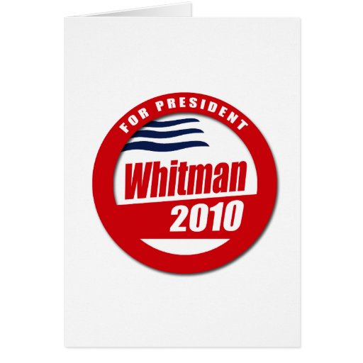 Whitman 2010 button greeting cards