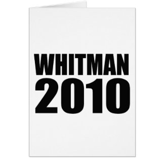 Whitman in 2010 greeting cards