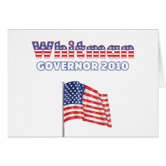 Whitman Patriotic American Flag 2010 Elections Greeting Card