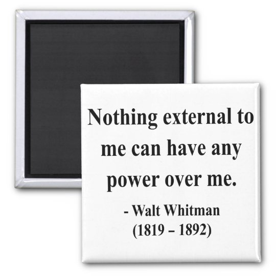 Whitman Quote 10a Square Magnet