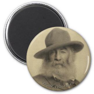 Whitman The Good Grey Poet 6 Cm Round Magnet