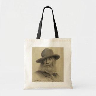 Whitman The Good Grey Poet Budget Tote Bag