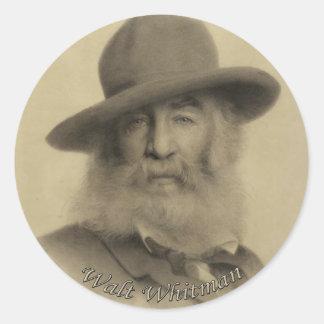 Whitman The Good Grey Poet Classic Round Sticker