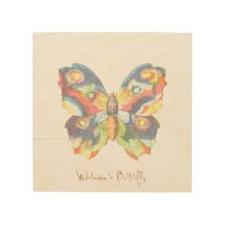 Whitman's Butterfly Wood Wall Art