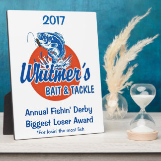 Whitmer Family Biggest Loser Award Display Plaque