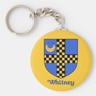 Whitney Family Shield Keychain