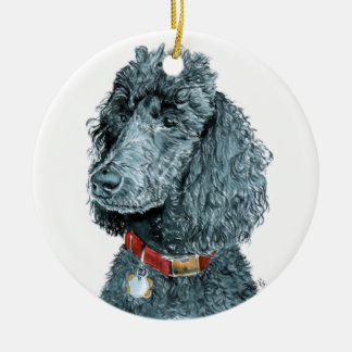 Whitney the Poodle Christmas Ornament