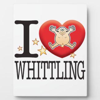 Whittling Love Man Plaque