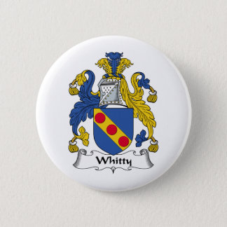 Whitty Family Crest 6 Cm Round Badge