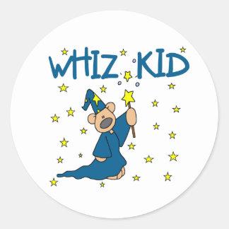 Whiz Kid Round Sticker