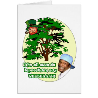 Who all seen da Leprechaun Card
