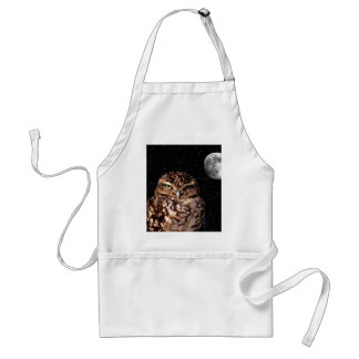 WHO ARE YOU LOOKING AT? (owl & moon design) ~ Aprons