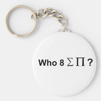 Who ate all the pies. basic round button key ring