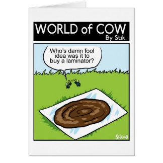 Who bought the laminator? greeting card