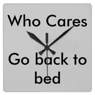 Who Cares Clock
