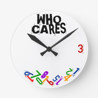 Who Cares Falling Numbers Wall Clock