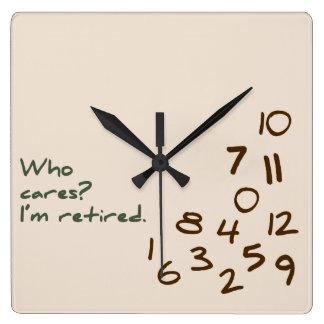 Who Cares? I'm retired. Clocks