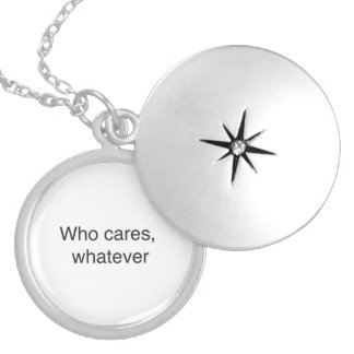 Who cares, whatever.ai round locket necklace