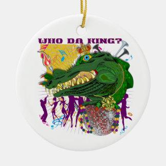 Who Da King? Louisiana Custom Throw Christmas Ornament
