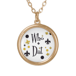 Who Dat's FUN Brushed Gold Tone Necklace