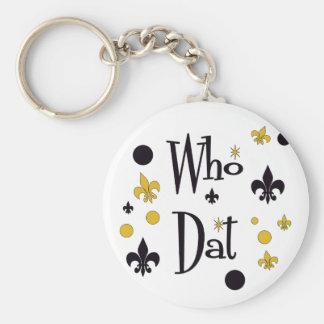 Who Dat's FUN in Black & Gold Key Ring