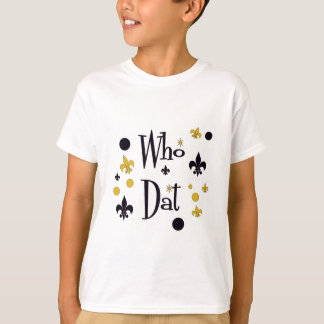 Who Dat's FUN in Black & Gold Tshirt