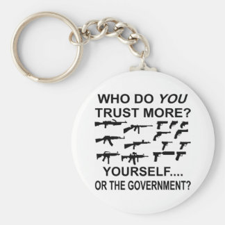 Who Do You Trust More Yourself Or The Government Key Chains