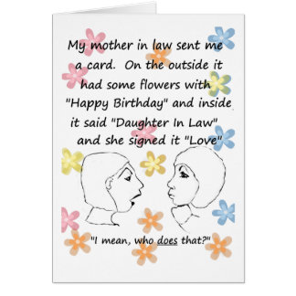 Who Does that - Daughter in Law Birthday Card